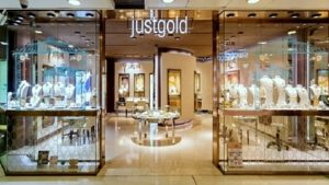 Just Gold jewellery store New Town Plaza shopping centre in Hong Kong.