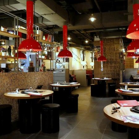 MeokBang Korean BBQ & BAR restaurant in Hong Kong.