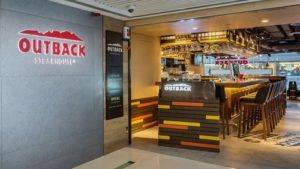 Outback Steakhouse restaurant Causeway Bay Plaza One Hong Kong.