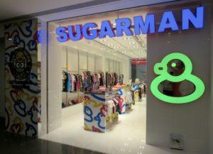 Sugarman clothing store Times Square Hong Kong.