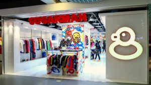 Sugarman* clothing store Harbour City Hong Kong.