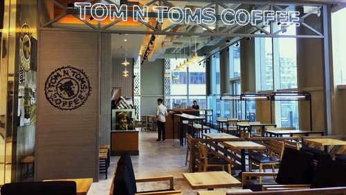 TOM N TOMS COFFEE shop Hong Kong.