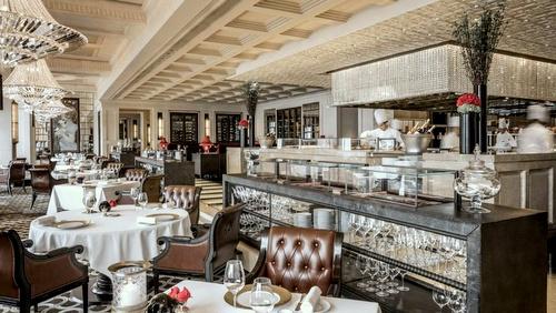 Four Seasons Hotel Hong Kong Caprice French restaurant.