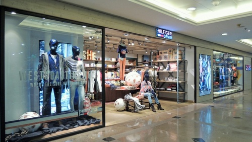 Hilfiger Denim clothing store Harbour City Hong Kong.