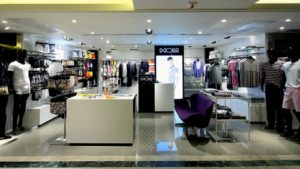 HOM underwear shop SOGO CWB department store Hong Kong.