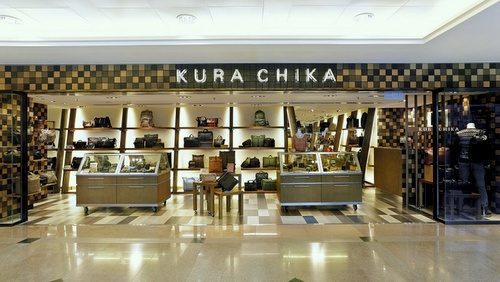 Kura Chika bag shop Harbour City Hong Kong.