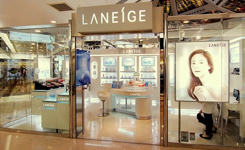 Laneige cosmetics shop Plaza Hollywood Hong Kong.