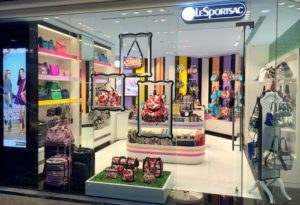 LeSportsac bag shop Times Square Hong Kong.