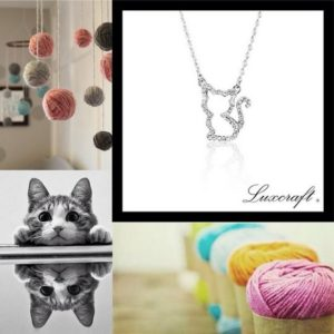 Luxcraft Glittered Kitten Shape Necklace Hong Kong.