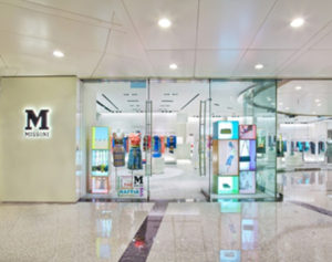 M Missoni clothing store Lee Gardens Hong Kong.
