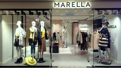 Marella clothing & accessory store Harbour City Hong Kong.