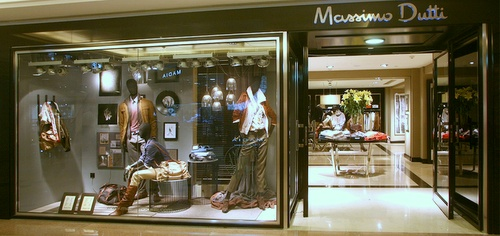 Massimo Dutti clothing shop Harbour City Hong Kong.