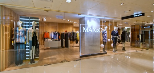 MAX&Co. clothing store Harbour City Hong Kong.