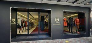 McQ clothing store Fashion Walk Hong Kong.