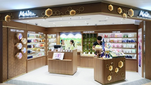 Melvita cosmetics store Harbour City Hong Kong.