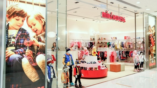 Miki House children's clothing store Harbour City Hong Kong.