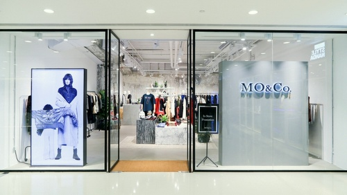 MO&Co. clothing shop Harbour City Hong Kong.