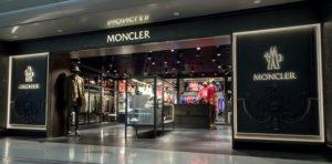 Moncler clothing store Hong Kong International Airport Terminal 1.