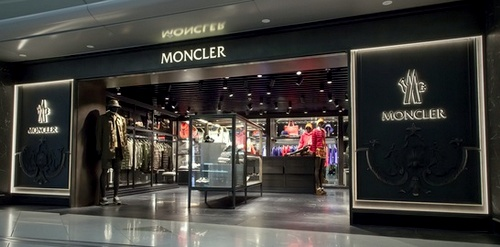 Moncler clothing store Hong Kong International Airport Terminal 1.