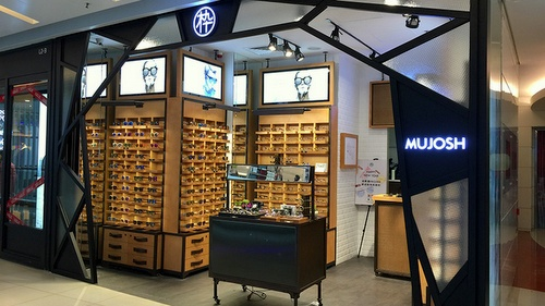 Mujosh optical store APM Hong Kong.
