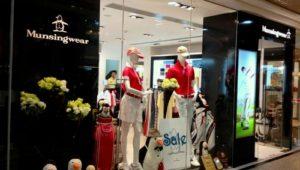 Munsingwear clothing shop Times Square Hong Kong.
