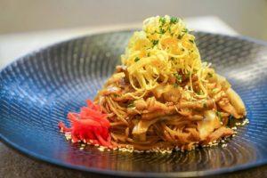 Niji bistro Yaki-Soba meal Hong Kong.