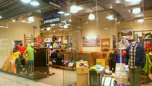 Patagonia outdoor clothing shop Harbour City Hong Kong.