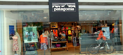 Patagonia outdoor clothing store Festival Walk Hong Kong.