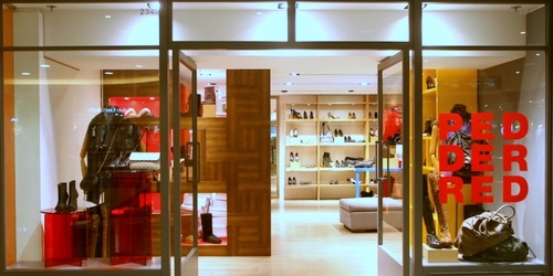 Pedder Red shoe and bag store Harbour City Hong Kong.