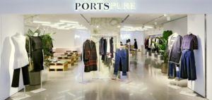 PortsPURE clothing store Harbour City Hong Kong.