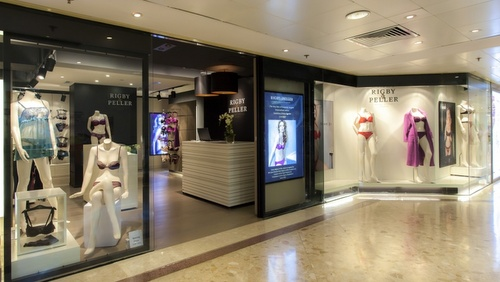 Rigby & Pelle lingerie store Harbour City Hong Kong.