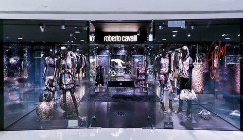 Roberto Cavalli clothing store Harbour City Hong Kong.