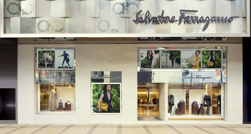 Salvatore Ferragamo shop Ocean Centre Harbour City Hong Kong.