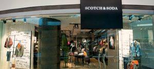 Scotch & Soda clothing shop Festival Walk Hong Kong.