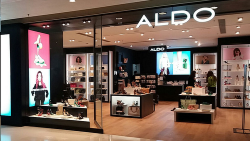 ALDO shoe store YOHO Mall Hong Kong.