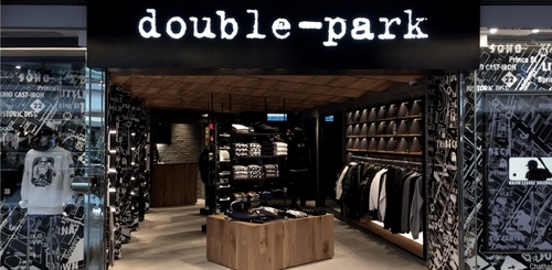 double-park clothing shop Festival Walk Hong Kong.