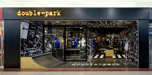 double-park clothing shop Plaza Hollywood Hong Kong.
