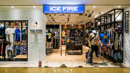 Ice Fire clothing shop Cityplaza Hong Kong.