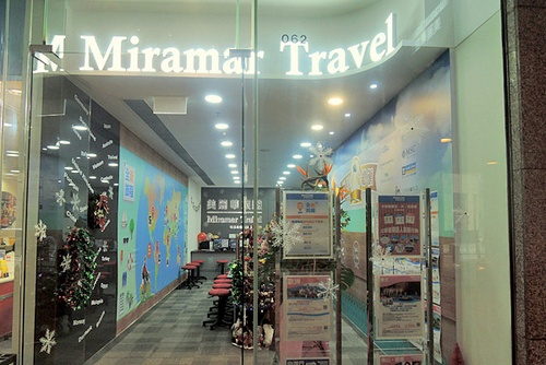 Miramar Travel agency Cityplaza Hong Kong.