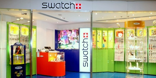 Swatch store Harbour City Hong Kong.