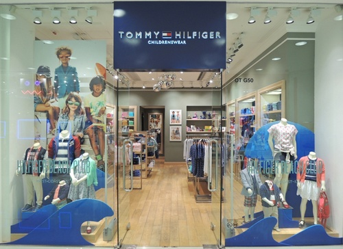 Tommy Hilfiger childrenswear shop Harbour City Hong Kong.
