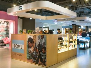 TOMS shoe store LCX Harbour City Hong Kong.