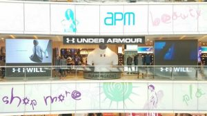 Under Armour shop APM Hong Kong.