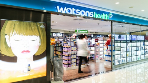 Watsons Health store Harbour City Hong Kong.
