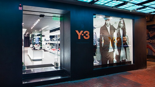 Y-3 clothing store Fashion Walk Hong Kong.