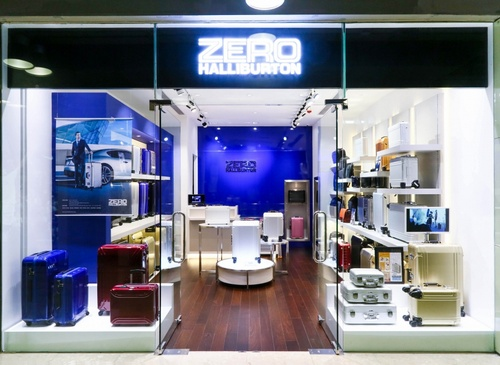 Zero Halliburton bag & luggage store Harbour City Hong Kong.