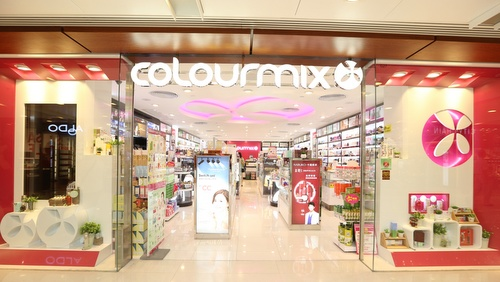 Colourmix cosmetics shop Telford Plaza Hong Kong.