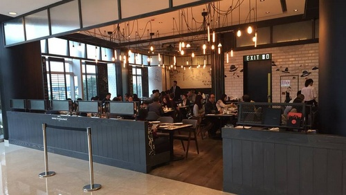 Greyhound Cafe restaurant IFC shopping centre Hong Kong.
