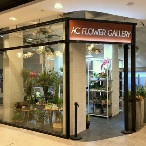AC Flower Gallery shop at Fashion Walk in Singapore.