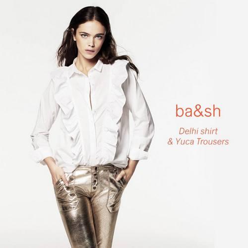 ba&sh Delhi Shirt and Yuca Trousers, available in Hong Kong.